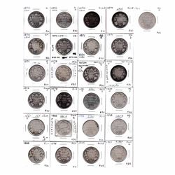 50-cent  1870-1901 Victorian Silver 50-cents dates include 1870 LCW, 1871, 1872, 1881, 1892, 1898, 1