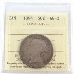 50-cent 1894 ICCS Certified AG-3
