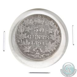 50-cent 1894 in F-VF Condition. *Key Date*
