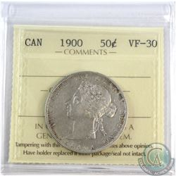 50-cent 1900 ICCS Certified VF-30