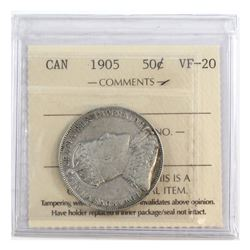 50-cent 1905 ICCS Certified VF-20