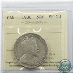 50-cent 1906 ICCS Certified VF-30.