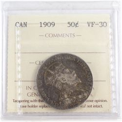 50-cent 1909 ICCS Certified VF-30