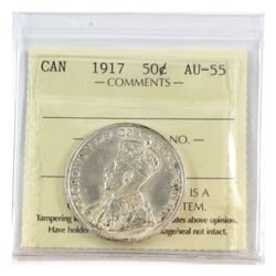 50-cent 1917 ICCS Certified AU-55