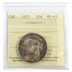 50-cent 1937 ICCS Certified MS-65.