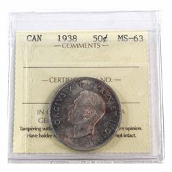 50-cent 1938 ICCS Certified MS-63