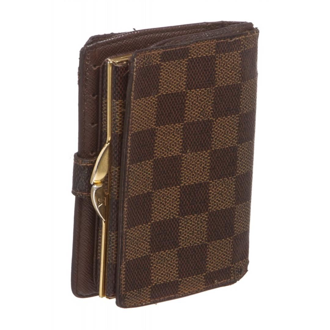 0da8bffc5770 ... Image 3   Louis Vuitton Damier Ebene Canvas Leather French Wallet ...
