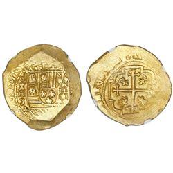 Mexico City, Mexico, cob 8 escudos, 1713J, NGC MS 64, ex-1715 Fleet (designated on label).