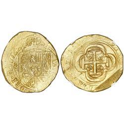 Mexico City, Mexico, cob 8 escudos, 1714J, NGC MS 61, ex-1715 Fleet (designated on label).