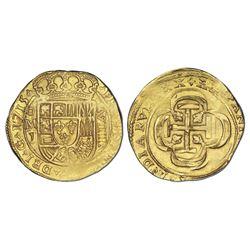 Mexico City, Mexico, cob 8 escudos, 1715J, special planchet and strike, NGC MS 64, ex-1715 Fleet (de