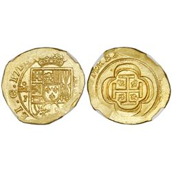 Mexico City, Mexico, cob 4 escudos, 1714J, NGC MS 65, tied for finest known in NGC census, ex-1715 F