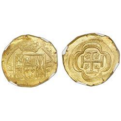 Mexico City, Mexico, cob 4 escudos, 1714J, NGC MS 64, ex-1715 Fleet (designated on label).