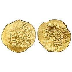 Mexico City, Mexico, cob 1 escudo, (1711-13)J, mintmark oXM, ex-1715 Fleet.