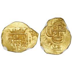 Mexico City, Mexico, cob 1 escudo, (1714)J, NGC MS 65, ex-1715 Fleet.