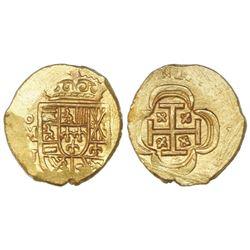 Mexico City, Mexico, cob 1 escudo, (1714)J, ex-1715 Fleet.