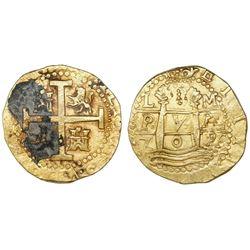 Lima, Peru, cob 8 escudos, 1709M, ex-1715 Fleet.