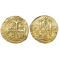 Lima, Peru, cob 8 escudos, 1717M.