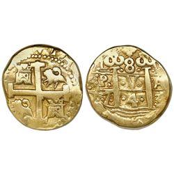 Lima, Peru, cob 8 escudos, 1743V.