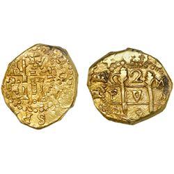 Cuzco, Peru, cob 2 escudos, 1698M, ex-1715 Fleet.