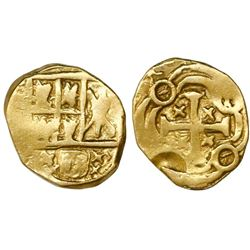 Bogota, Colombia, cob 1 escudo, posthumous Charles II, no assayer (Arce).