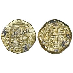Madrid, Spain, cob 2 escudos, Philip V, assayer Y/F (ca. 1707), unique and unlisted, ex-Guadalupe-To