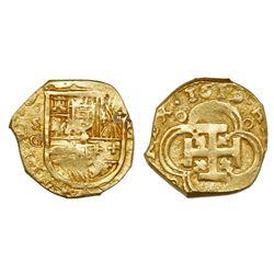 Seville, Spain, cob 2 escudos, 1619G, ex-Atocha (1622).