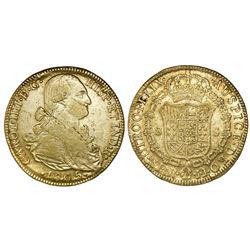 Bogota, Colombia, 8 escudos, Charles IV, 1805JJ.