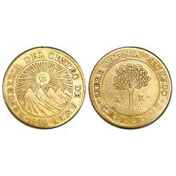 Costa Rica (Central American Republic), 1 escudo, 1849JB.