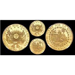 Cuzco, Peru, 8 escudos, 1837BA, FEDERACION type, NGC MS 64+ PL, finest known.