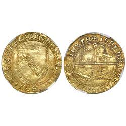 Spain (Castile and Leon), dobla de la banda, John II (1406-1454), NGC XF 45.