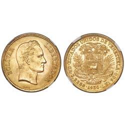 Venezuela, (10 bolivares), 1930, NGC MS 65.