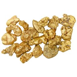 Lot of twenty gold (~22k) nuggets, 30 grams total, from the Dominican Republic.
