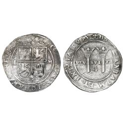 """Mexico City, Mexico, 4 reales, Charles-Joanna, """"Late Series,"""" assayer L to left, mintmark M to right"""