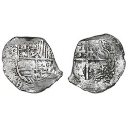 Potosi, Bolivia, cob 8 reales, Philip III, assayer M, Grade 2, with HRC replacement tag and certific