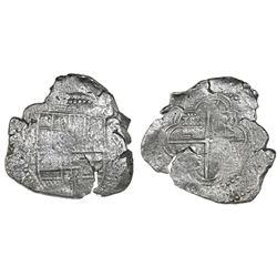 Potosi, Bolivia, cob 8 reales, Philip III, assayer not visible, Grade-2 quality but Grade 4 on certi