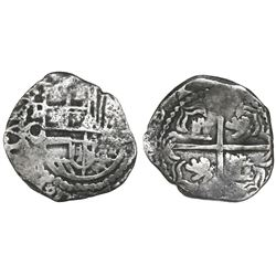 Potosi, Bolivia, cob 2 reales, Philip III, assayer Q, Grade 2, certificate missing.