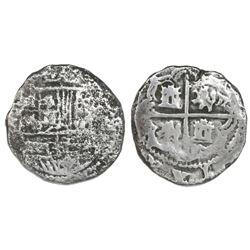 Potosi, Bolivia, cob 2 reales, Philip III, assayer not visible, Grade 1, certificate missing.