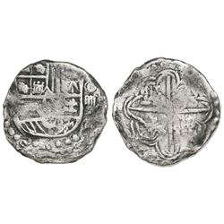 Potosi, Bolivia, cob 4 reales, Philip III, assayer not visible, Grade 1, certificate missing.