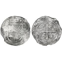 Mexico City, Mexico, cob 8 reales, Philip III, assayer A, Grade 1, NGC Shipwreck Effect / Sao Jose,
