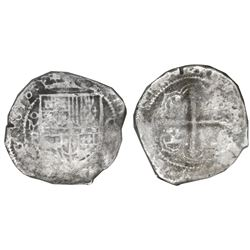 Mexico City, Mexico, cob 8 reales, 1618F, Grade 3, very rare, NGC Shipwreck Effect / Sao Jose, with