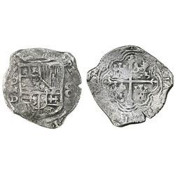 Mexico City, Mexico, cob 8 reales, Philip IV, assayer D.