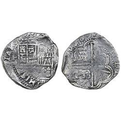 Potosi, Bolivia, cob 8 reales, 1638(TR), rare.