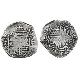 Potosi, Bolivia, cob 4 reales, (1650-1)O, no countermark (rare).
