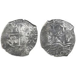 Potosi, Bolivia, cob 8 reales, 1667E, Charles II.