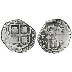 Potosi, Bolivia, cob 1 real, 1652E Transitional, McLean Type I, rare.