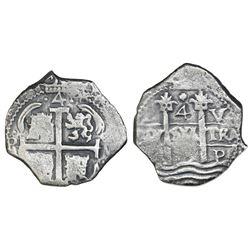 Potosi, Bolivia, cob 4 reales, 1679V.