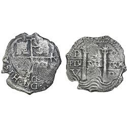 Potosi, Bolivia, cob 4 reales, 1680V.