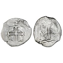 Potosi, Bolivia, cob 2 reales, 1679C.