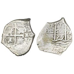Potosi, Bolivia, cob 1 real, 1677/6E.