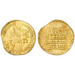 Utrecht, United Netherlands, gold ducat, 1711.
